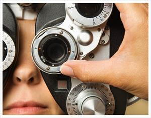 Person getting an eye examination